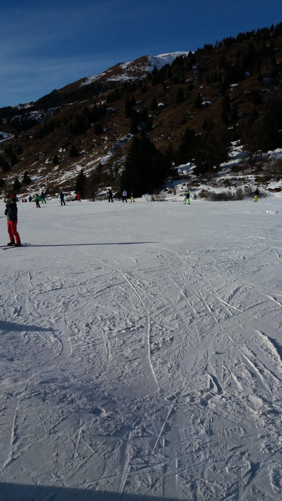 Sciare coi bambini ponte di legno