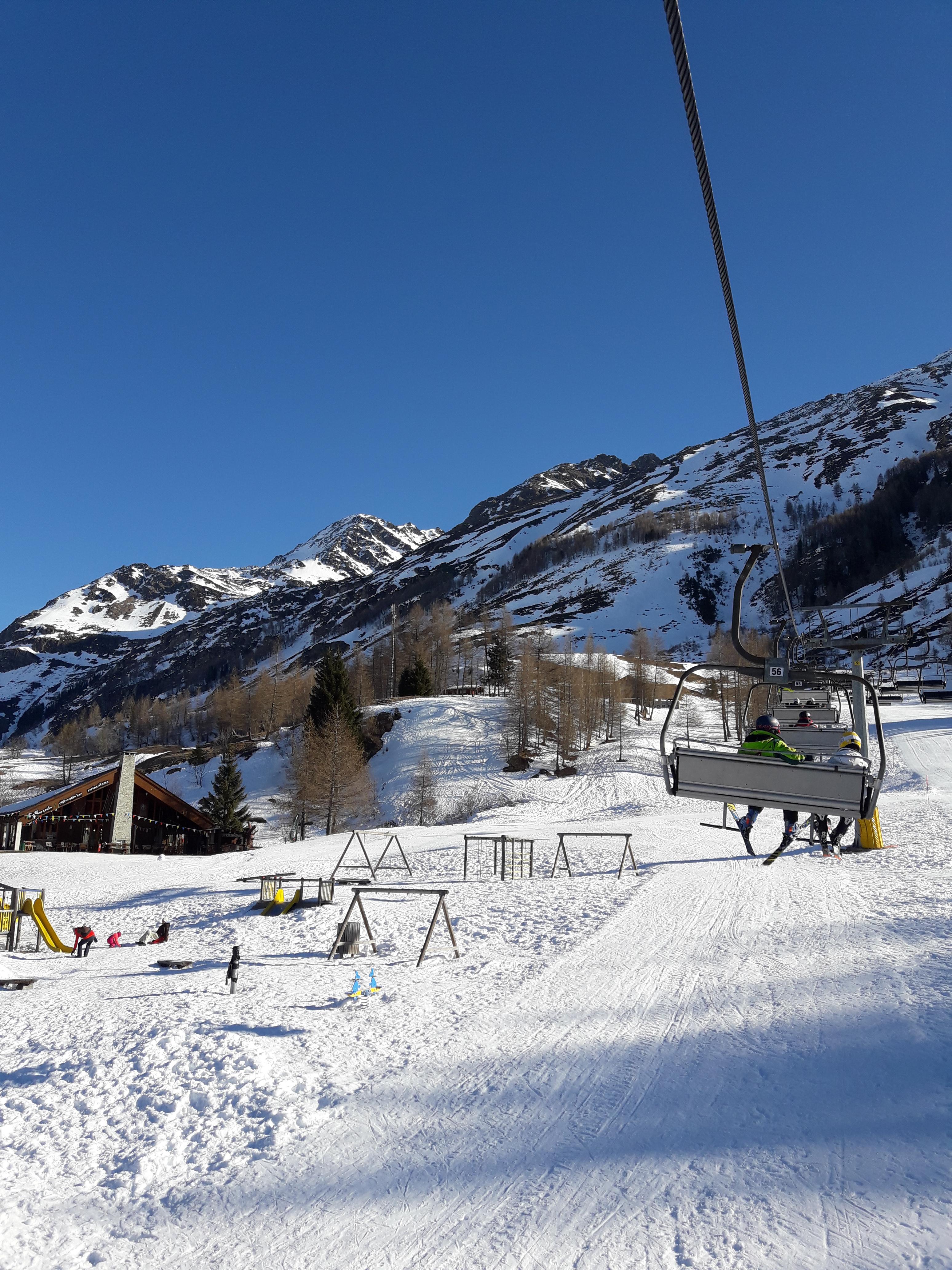 Sciare coi bambini a Madesimo,la seggiovia Arlecchino
