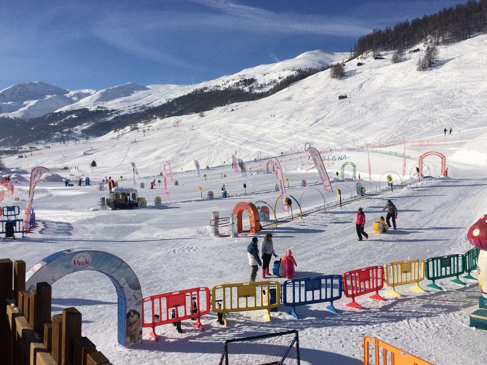 Sciare coi bambini a Livigno,giochi