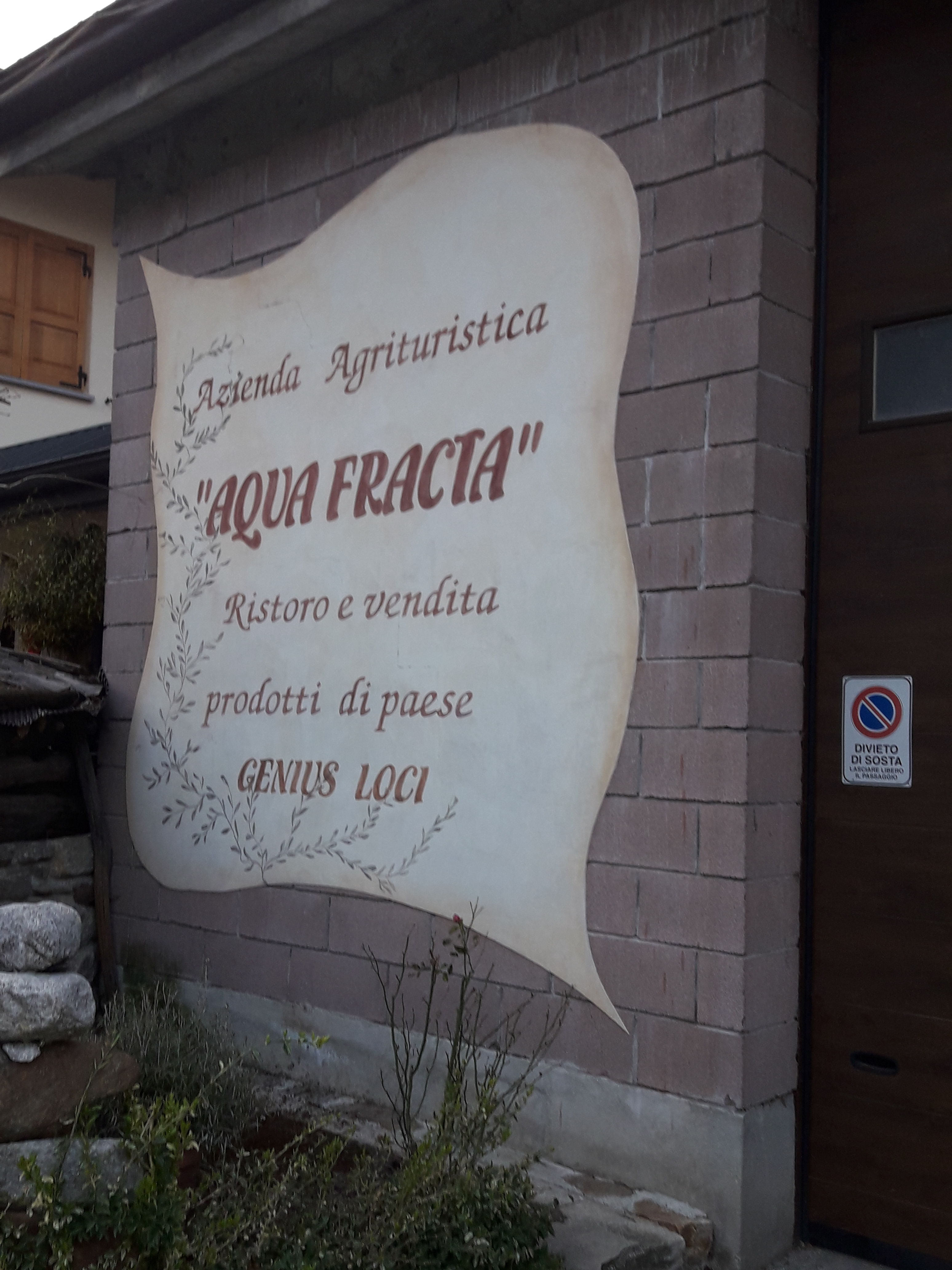 Agriturismo Aqua Fracta,l'ingresso
