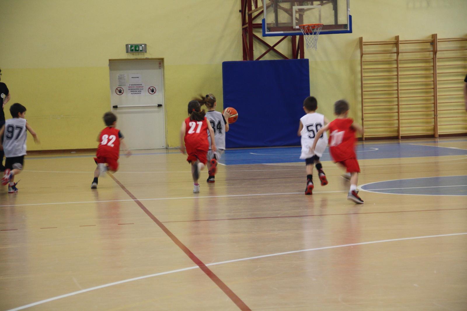Basket per i bambini, sport e salute