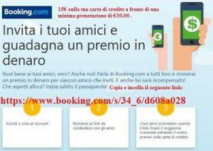 prenotare tramite Booking,invita i tuoi amici