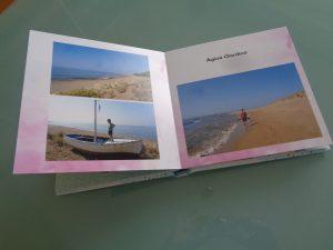 album per le foto dei viaggi,una pagina interna