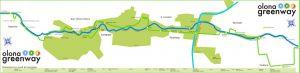 La mappa dell'Olona Greenway coi bambini