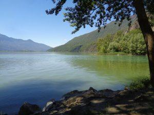 La ciclabile della Valchiavenna coi bambini,il lago di Novate mezzola