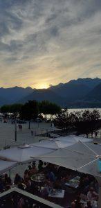 La ciclabile della Valchiavenna coi bambini, tramonto a colico