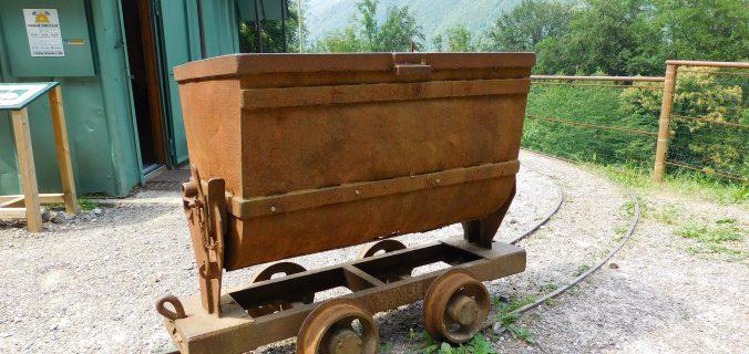 vagone minerario del parco di Cortabbio