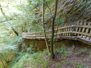 passerelle lungo le gole del torrente Breggiaa