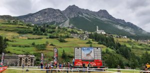 la cornice della Alta Valtellina Bike Marathon Kids