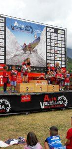 il podio della Alta Valtellina Bike Marathon Kids