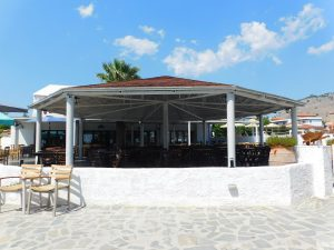 Dove dormire a Lindos:il ristorante del Sun Beach Lindos