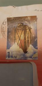 francobollo sulla busta della lettera da santa claus