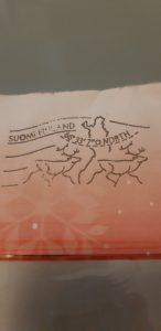 Tibro postale del villaggio di babbo natale