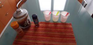 materiale per pitturare coi colori ghiacciati