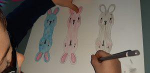 creare un segnaposto cai da te a forma di coniglietto