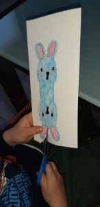 il coniglietto segnaposto quasi terminato