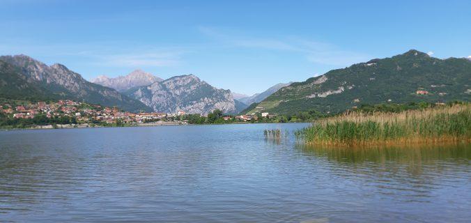 paesaggio sul lago di annone
